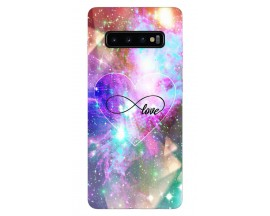Husa Silicon Soft Upzz Print Samsung Galaxy S10 Model Neon Love