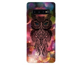 Husa Silicon Soft Upzz Print Samsung Galaxy S10 Model Sparkle Owl