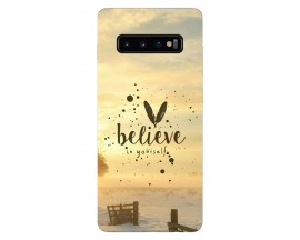 Husa Silicon Soft Upzz Print Samsung Galaxy S10 Plus Model Believe