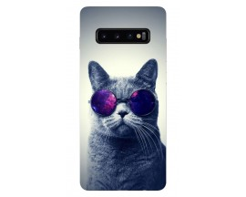 Husa Silicon Soft Upzz Print Samsung Galaxy S10 Plus Model Cool Cat