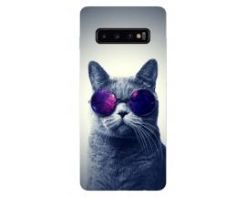 Husa Silicon Soft Upzz Print Samsung Galaxy S10 Plus Model Cool Cat