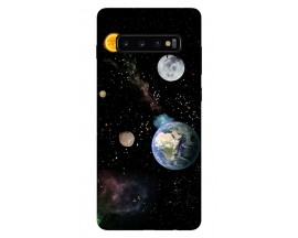 Husa Silicon Soft Upzz Print Samsung Galaxy S10 Plus Model Earth