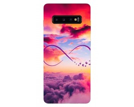Husa Silicon Soft Upzz Print Samsung Galaxy S10 Plus Model Infinity