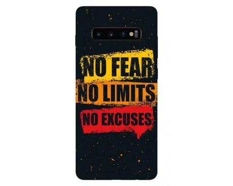Husa Silicon Soft Upzz Print Samsung Galaxy S10 Plus Model No Fear