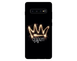 Husa Silicon Soft Upzz Print Samsung Galaxy S10 Plus Model Queen