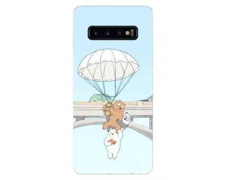 Husa Silicon Soft Upzz Print Samsung Galaxy S10 Plus Model Three Bears