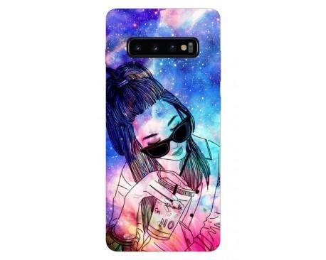 Husa Silicon Soft Upzz Print Samsung Galaxy S10 Plus Model Universe Girl