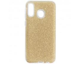 Husa Spate Upzz Shiny Lux Samsung Galaxy M20 Gold