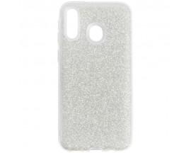 Husa Spate Upzz Shiny Lux Samsung Galaxy M20 Silver