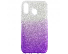 Husa Spate Upzz Shiny Lux Samsung Galaxy M20 Silver Purple