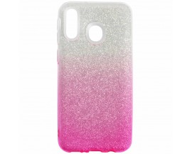 Husa Spate Upzz Shiny Lux Samsung M20 Silver Pink