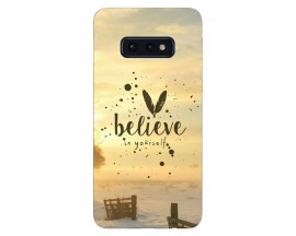 Husa Silicon Soft Upzz Print Samsung Galaxy S10e Model Believe