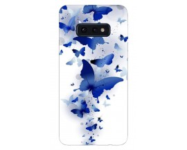 Husa Silicon Soft Upzz Print Samsung Galaxy S10e Model Blue Butterflyes