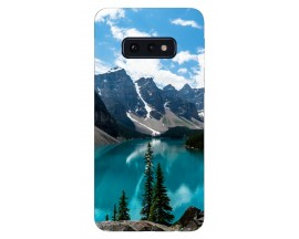Husa Silicon Soft Upzz Print Samsung Galaxy S10e Model Blue