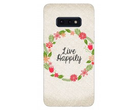 Husa Silicon Soft Upzz Print Samsung Galaxy S10e Model Happily