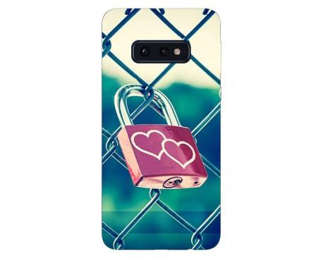 Husa Silicon Soft Upzz Print Samsung Galaxy S10E Model Heart Lock