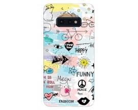 Husa Silicon Soft Upzz Print Samsung Galaxy S10e Model Meow