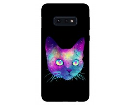 Husa Silicon Soft Upzz Print Samsung Galaxy S10E Model Neon Cat