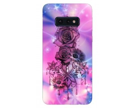 Husa Silicon Soft Upzz Print Samsung Galaxy S10E Model Neon Rose