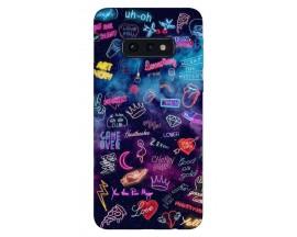 Husa Silicon Soft Upzz Print Samsung Galaxy S10e Model Neon