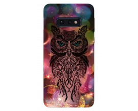 Husa Silicon Soft Upzz Print Samsung Galaxy S10e Model Sparkle Owl