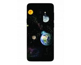 Husa Silicon Soft Upzz Print Samsung Galaxy S9+ Plus Model Earth