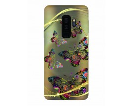 Husa Silicon Soft Upzz Print Samsung Galaxy S9+ Plus Model Golden Buterrfly