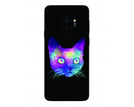 Husa Silicon Soft Upzz Print Samsung Galaxy S9+ Plus Model Neon Cat