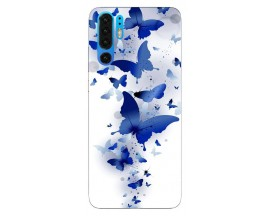 Husa Silicon Soft Upzz Print Huawei P30 Pro Model Blue Butterflies