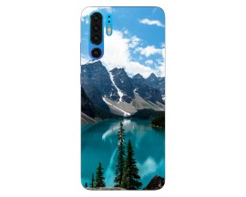 Husa Silicon Soft Upzz Print Huawei P30 Pro Model Blue