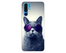 Husa Silicon Soft Upzz Print Huawei P30 Pro Model Cool Cat