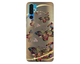 Husa Silicon Soft Upzz Print Huawei P30 Pro Model Golden Butterfly