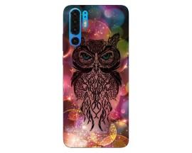 Husa Silicon Soft Upzz Print Huawei P30 Pro Model Sparkle Owl
