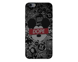 Husa Silicon Soft Upzz Print iPhone 6 / 6s Model Dope
