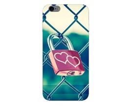 Husa Silicon Soft Upzz Print iPhone 6 / 6s Model Heart Lock