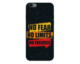 Husa Silicon Soft Upzz Print iPhone 6 / 6s Model No Fear