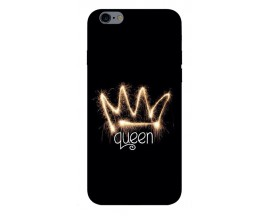 Husa Silicon Soft Upzz Print iPhone 6 / 6s Model Queen