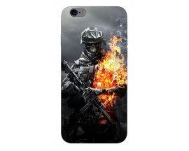 Husa Silicon Soft Upzz Print iPhone 6 / 6s Model Soldier