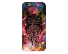 Husa Silicon Soft Upzz Print iPhone 6 / 6s Model Sparkle Owl