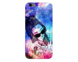 Husa Silicon Soft Upzz Print iPhone 6 / 6s Model Universe Girl