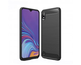 Husa Spate Forcell Carbon Pro Samsung Galaxy A10 Negru Silicon