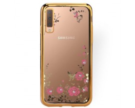 Husa Spate Forcell Bling Diamond Samsung Galaxy A50 Gold