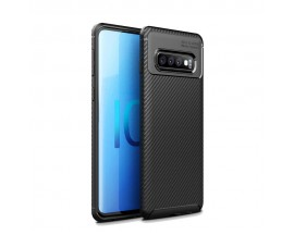 Husa Premium Rugged Carbon New Auto Focus Samsung Galaxy S10 Plus Negru