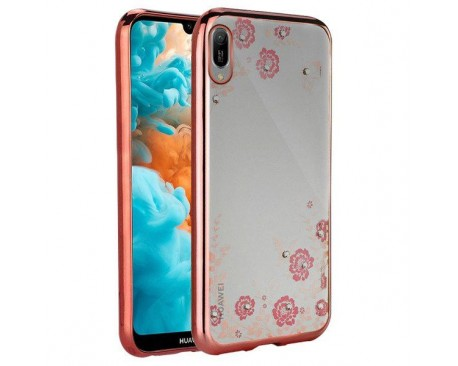 Husa Spate Forcell Bling Diamond Samsung M10 Rose Gold