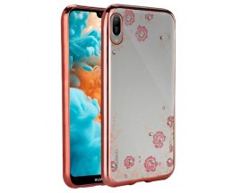 Husa Spate Forcell Bling Diamond Samsung Galaxy M20 Rose Gold