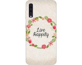 Husa Silicon Soft Upzz Print Samsung Galaxy A50 Model Happily