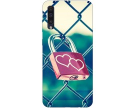 Husa Silicon Soft Upzz Print Samsung Galaxy A50 Model Heart Lock