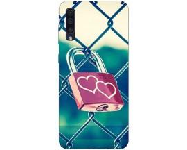 Husa Silicon Soft Upzz Print Samsung Galaxy A50 Model Heart Lock