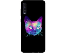 Husa Silicon Soft Upzz Print Samsung Galaxy A50 Model Neon Cat