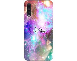 Husa Silicon Soft Upzz Print Samsung Galaxy A50 Model Neon Love
